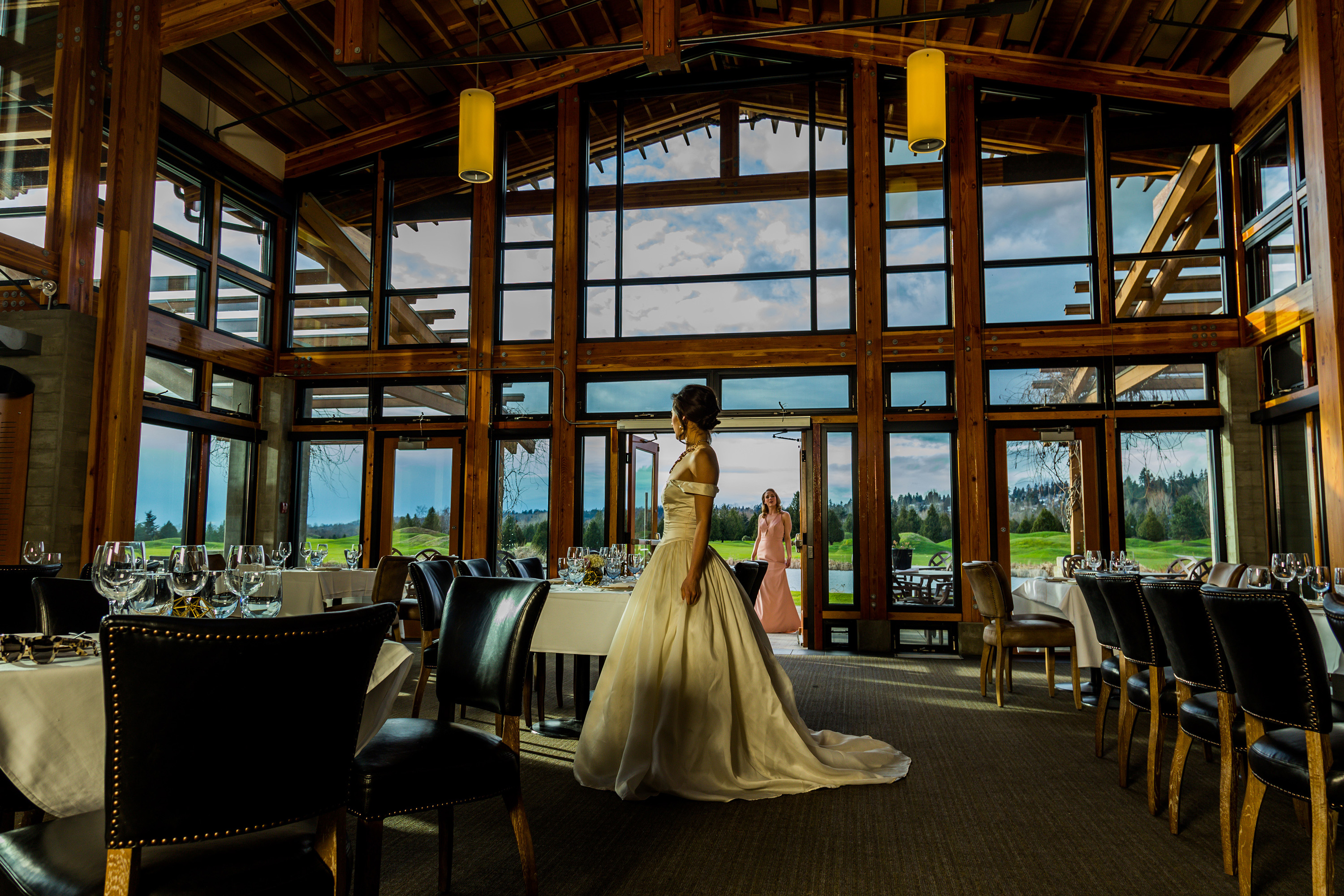 Bride in a beautifully decorated Riverway Clubhouse