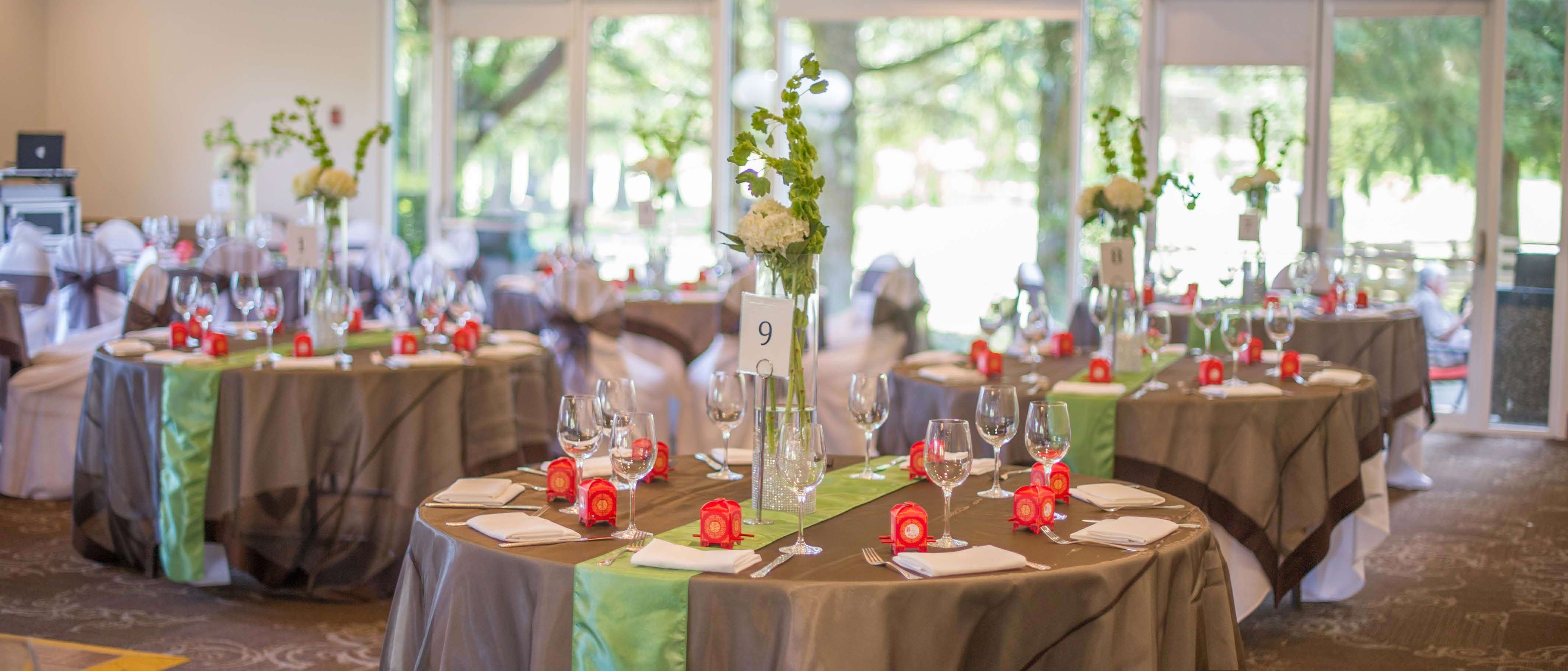 Table setting at the Burnaby Mountain Clubhouse