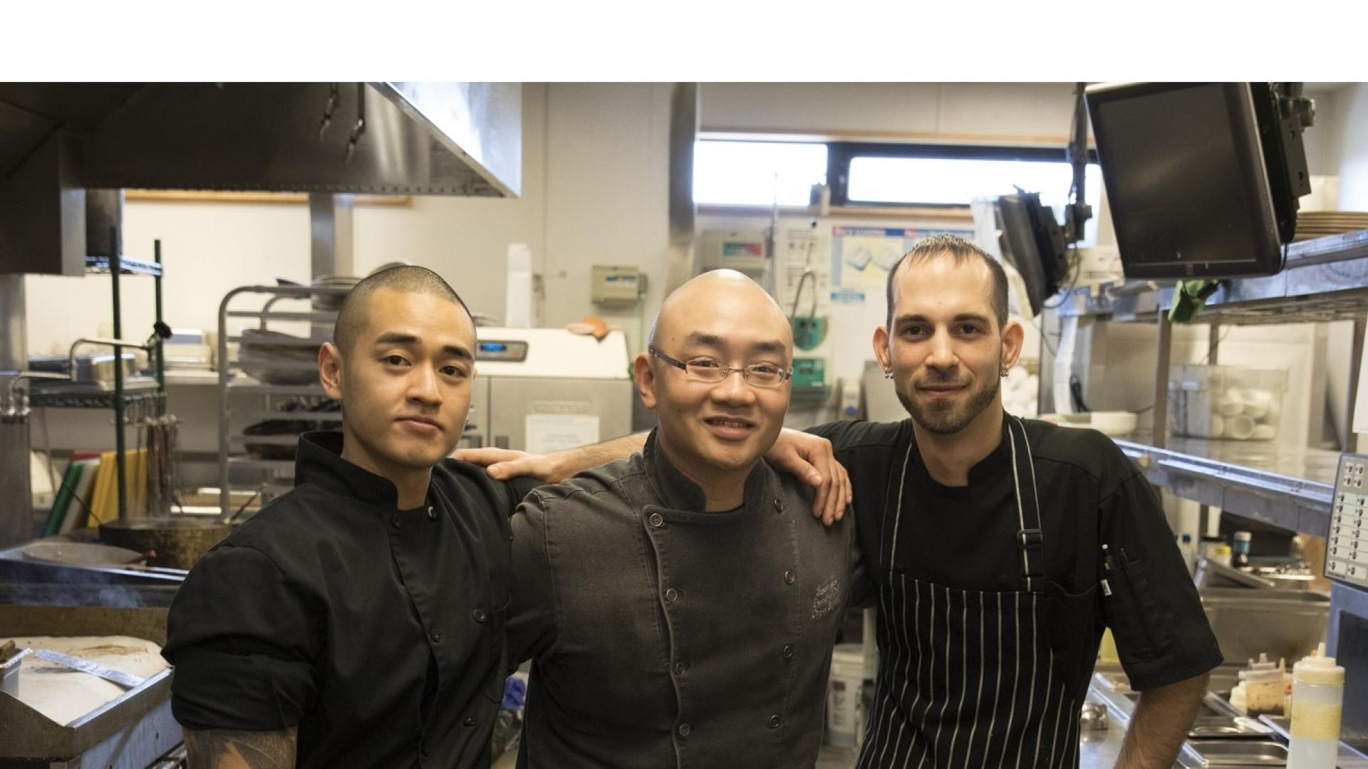 Chefs at the Riverway Restaurant