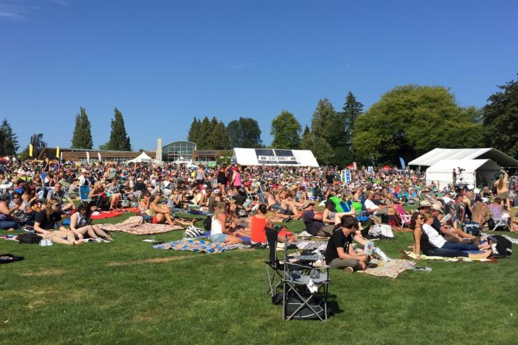 Concert lawn at the Deer Lake Park