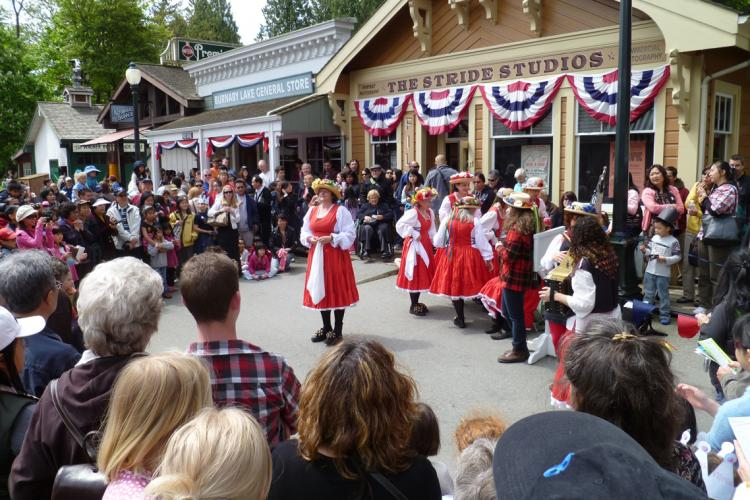 Victoria Day Tiddley Cove Morris Dancers at the Burnaby Village Museum