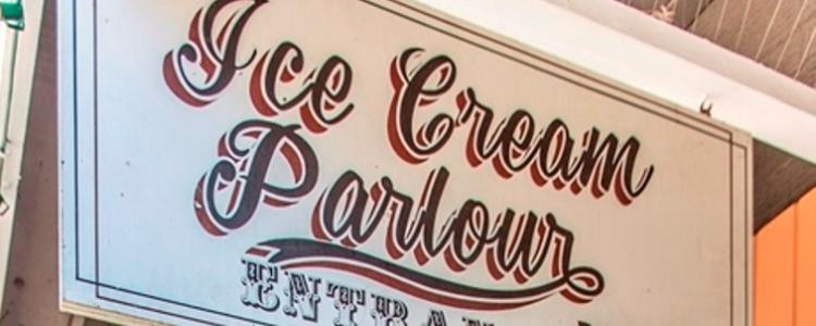 Ice Cream parlour sign