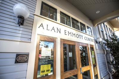 Alan Emmott main entrance