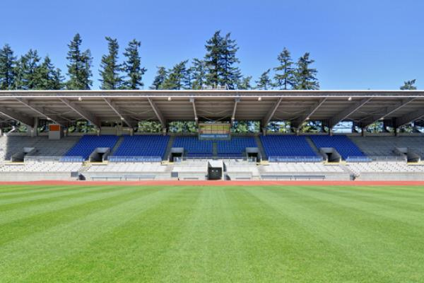 Stand at the Swangard Stadium